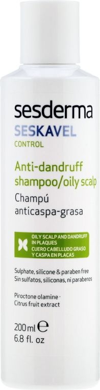 Anti-Schuppen Shampoo für fettige Kopfhaut - SesDerma Laboratories Seskavel Oily Hair Dandruff Control Shampoo — Bild N2