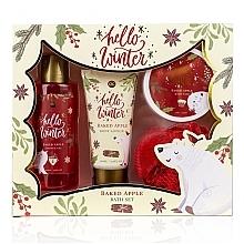 Düfte, Parfümerie und Kosmetik Körperpflegeset - Accentra Hello Winter Baked Apple (Duschgel 150ml + Körperlotion 60ml + Badesalz 70g + Badeschwamm)