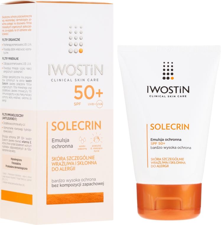 Sonnenschutzemulsion für empfindliche und zu Allergie neigende Haut SPF 50+ - Iwostin Solecrin Emulsion SPF50+