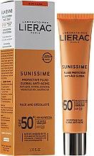 Düfte, Parfümerie und Kosmetik Vitalisierendes Schutzfluid LSF 50+ Globales Anti-Aging - Lierac Sunissime Fluide Protecteur Anti-Age SPF 50+