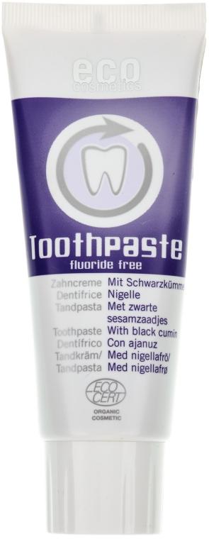 Natürliche Fluoridfreie Zahnpasta mit Schwarzkümmel - Eco Cosmetics — Bild N1
