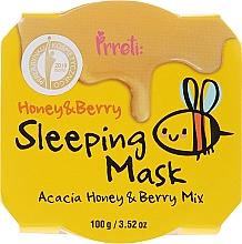 Düfte, Parfümerie und Kosmetik Nährende Gesichtsmaske mit Akazienhonig und Waldbeeren für die Nacht - Prreti Honey & Berry Sleeping Mask