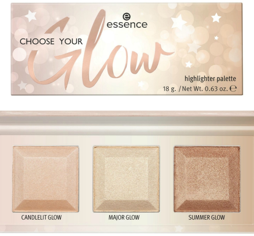 Highlighterpalette - Essence Choose Your Glow! Highlighter Palette