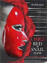 Düfte, Parfümerie und Kosmetik Tief feuchtigkeitsspendende und straffende Tuchmaske für das Gesicht mit Schneckenschleimfiltrat - Double Dare OMG! Red + Snail Mask