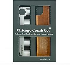 Düfte, Parfümerie und Kosmetik Haarpflegeset - Chicago Comb Co CHICA-1-SET (Haarkamm 1 St. + Case 1 St.)