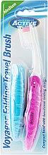 Düfte, Parfümerie und Kosmetik Klappbare Reisezahnbürste mittel, rosa - Beauty Formulas Voyager Active Folding Dustproof Travel Toothbrush Medium