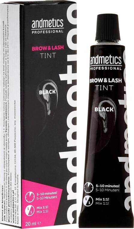 Augenbrauen- und Wimpernfarbe - Andmetics Brow & Lash Tint