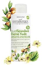 Düfte, Parfümerie und Kosmetik Pflegendes und regenerierendes Anti-Spliss Haaröl mit Argan und Hamamelis - MaterNatura