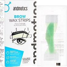 Düfte, Parfümerie und Kosmetik Set Enthaarungsstreifen für Augenbrauen für Männer - Andmetics Brow Wax Strips Men (strips/4x2pc + strips/4x2pc + wipes/4pc)
