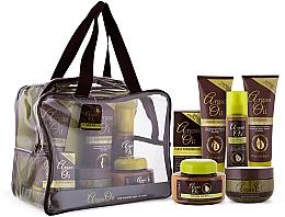 Düfte, Parfümerie und Kosmetik Haarpflegeset - Xpel Marketing Ltd Argan Oil (Shampoo 250ml + Conditioner 250ml + Haaröl 50ml + Haarmaske 220ml + Haarspray 150ml + Körperbutter 250ml)
