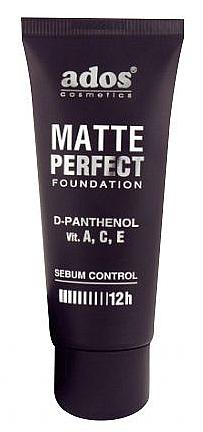 Mattierende Foundation mit D-Panthenol und Vitamin A, C, E - Ados Matte Perfect Foundation