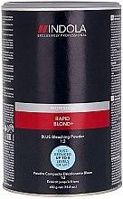Düfte, Parfümerie und Kosmetik Aufhellungspulver blau  - Indola Profession Rapid Blond+ Blue Dust-Free Powder