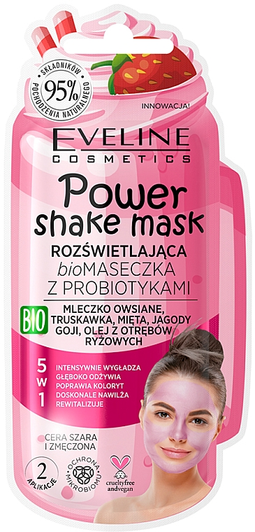 Bio-Gesichtsmaske mit Probiotika - Eveline Cosmetics Power Shake Mask