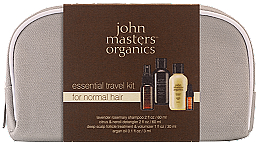 Düfte, Parfümerie und Kosmetik Set - John Masters Organics Essential Travel Kit For Normal Hair (sh/60ml + detangker/60ml + volumizer/30ml + oil/3ml)