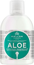Düfte, Parfümerie und Kosmetik Feuchtigkeitsspendendes, regenerierendes Shampoo für trockenes und brüchiges Haar mit Aloe Vera Extrakt - Kallos Cosmetics Aloe Vera Full Repair Shampoo