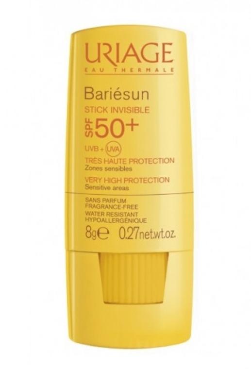 Transparenter Sonnenschutzstick für empfindliche Körper- und Gesichtszonen SPF 50+ - Uriage Bariesun Stick Invisible SPF50+