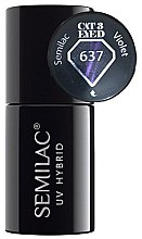 Düfte, Parfümerie und Kosmetik Nagellack - Semilac UV Hybrid Cat Eye 3D