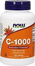 Düfte, Parfümerie und Kosmetik Nahrungsergänzungsmittel Vitamin C 1000 mg mit Hagebutten und Bioflavonoiden - Now Foods c-1000 With Rose Hips & Bioflavonoids
