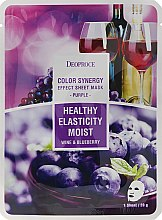Düfte, Parfümerie und Kosmetik Feuchtigkeitsspendende und straffende Tuchmaske mit Heidelbeer- und rotem Traubenextrakt - Deoproce Color Synergy Effect Sheet Mask Purple