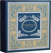 Düfte, Parfümerie und Kosmetik Versace Pour Homme Christmas Giftset 2020 - Duftset (Eau de Toilette 30ml + Duschgel 50ml)