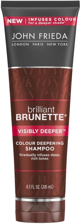 Shampoo für braunes und kupferrotes Haar - John Frieda Brilliant Brunette Visibly Deeper Shampoo
