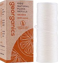 Düfte, Parfümerie und Kosmetik Gewachste Zahnseide mit Orange 2x50 m - Georganics Natural Sweet Orange Dental Floss (Austauschbare Patrone)