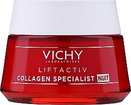 Düfte, Parfümerie und Kosmetik Nachtcreme für das Gesicht mit Kollagen - Vichy LiftActiv Collagen Specialist Night