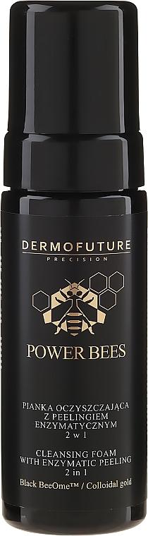 Gesichtsreinigungsschaum mit Enzympeeling - Dermofuture Power Bees Cleansing Foam 2in1