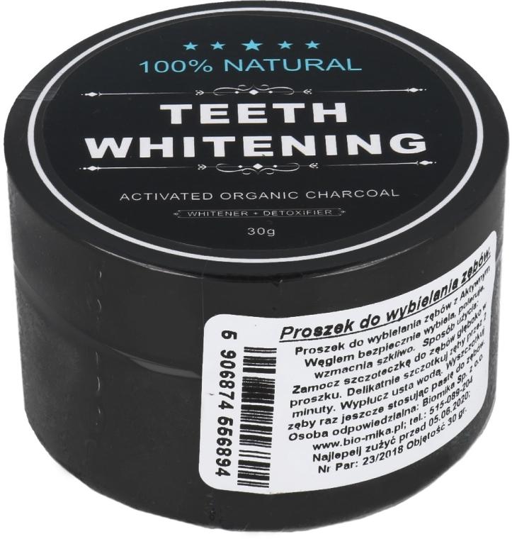 100% Natürliches aufhellendes Zahnpulver mit Aktivkohle - Biomika Natural Teeth Powder