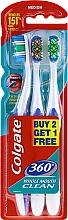 Düfte, Parfümerie und Kosmetik Zahnbürste mittel violett, orange, grün 3 St. - Colgate 360