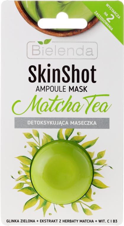 Detox-Gesichtsmaske mit Matcha Tee Extrakt - Bielenda Skin Shot Matcha Tea — Bild N1