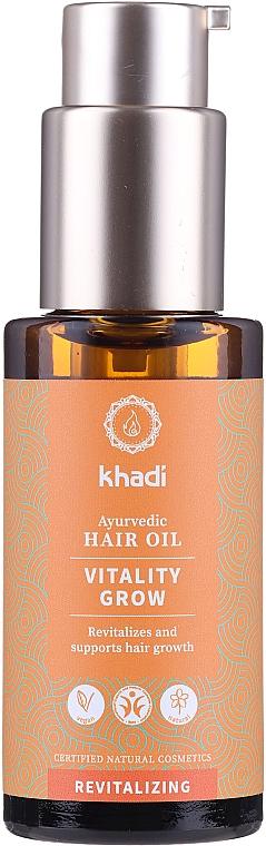 Ayurvedisches revitalisierendes Haaröl zum Wachstum - Khadi Ayurvedic Vitality Grow Hair Oil