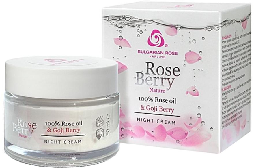 Nachtcreme mit Rosenöl und Goji Berry - Bulgarian Rose Rose Berry Nature Night Cream