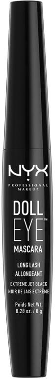 Verlängernde Wimperntusche - NYX Professional Makeup Doll Eye Mascara Long Lash — Bild N1