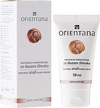 Düfte, Parfümerie und Kosmetik Natürliche Handcreme mit Schneckenschleim-Extrakt - Orientana Natural Snail Hand Cream