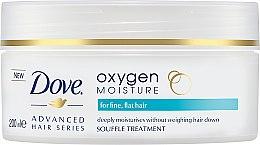 Düfte, Parfümerie und Kosmetik Feuchtigkeitsspendendes Soufflé Maske für feines, kraftloses Haar - Dove Advanced Hair Series Oxygen Moisture Souffle Treatment