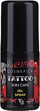 Düfte, Parfümerie und Kosmetik Tattoo-Pflegeöl - Cosmepick Tattoo Skin Care Oil Spray