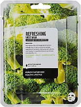 Düfte, Parfümerie und Kosmetik Erfrishende Tuchmaske mit Brokkoliextrakt - Superfood For Skin Refreshing Sheet Mask