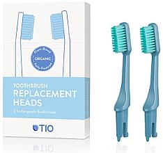 Düfte, Parfümerie und Kosmetik Austauschbare Zahnbürstenköpfe mittel blau 2 St. - TIO Toothbrush Medium