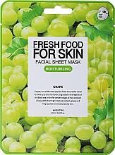 Düfte, Parfümerie und Kosmetik Tuchmaske für das Gesicht mit Traubenextrakt - Superfood for Skin Farmskin Fresh Food Grape Mask