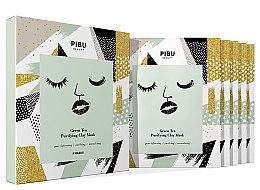 Düfte, Parfümerie und Kosmetik Gesichtspflegeset - Pibu Beauty Green Tea Purifying Clay Mask Set (Gesichtsmasken 5x18g)