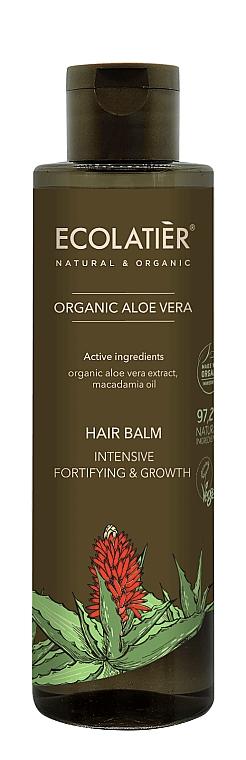 Intensiv stärkende Haarspülung zum Wachstum mit Bio Aloe Vera und Macadamiaöl - Ecolatier Organic Aloe Vera Hair Balm