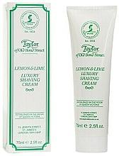 Düfte, Parfümerie und Kosmetik Luxuriöse Rasiercreme mit Zitronen- und Limettenduft - Taylor of Old Bond Street Lemon&Lime Luxury Shaving Cream (Tube)