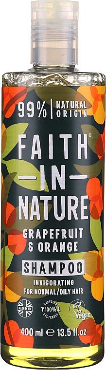Belebendes Shampoo mit Grapefruit und Orange für normales und fettiges Haar - Faith In Nature Grapefruit & Orange Shampoo