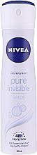 Düfte, Parfümerie und Kosmetik Deospray Antitranspirant - Nivea Women Deospray Pure Invisible
