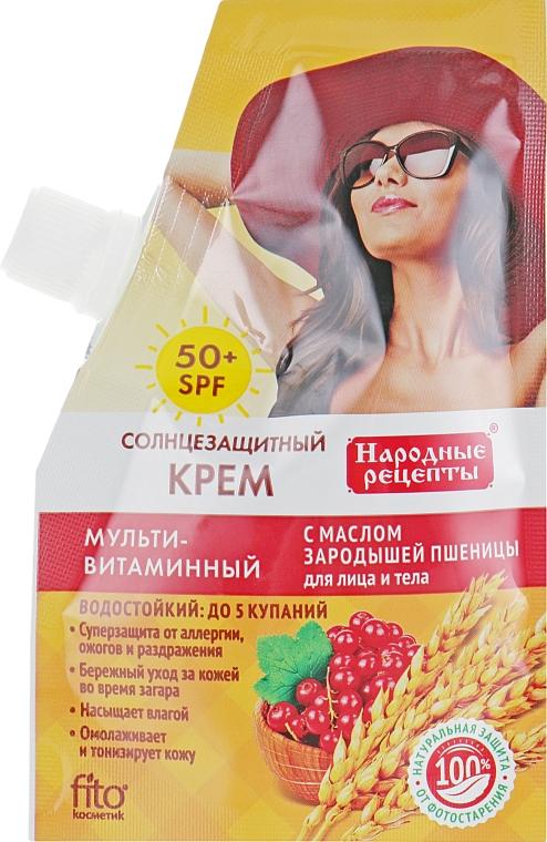 Sonnenschutzcreme für Gesicht und Körper mit Weizenkeimöl SPF50 - Fito Kosmetik Volksrezepte