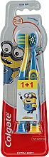 Düfte, Parfümerie und Kosmetik Kinderzahnbürste 2-6 Jahre extra weich Smiles gelb-blau 2 St. - Colgate Smiles Kids Extra Soft