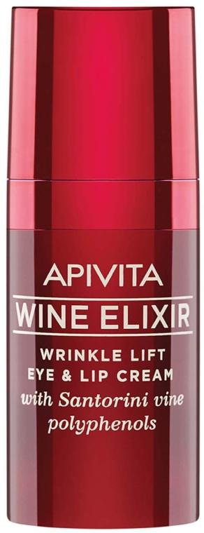 Anti-Falten Augen- und Lippenkonturcreme mit Lifting-Effekt - Apivita Wine Elixir Cream — Bild N1