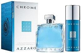 Düfte, Parfümerie und Kosmetik Azzaro Chrome - Duftset (Eau de Toilette 100ml + Duschgel 150ml)