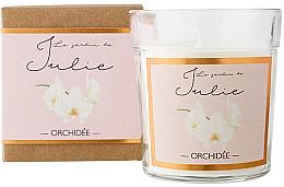 Düfte, Parfümerie und Kosmetik Duftkerze im Glas Orchidee - Ambientair Le Jardin de Julie Orchidee